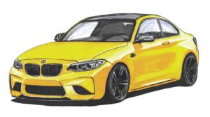 BMW m2. weiss